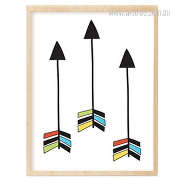 Three Arrows Print Kids Wall Art