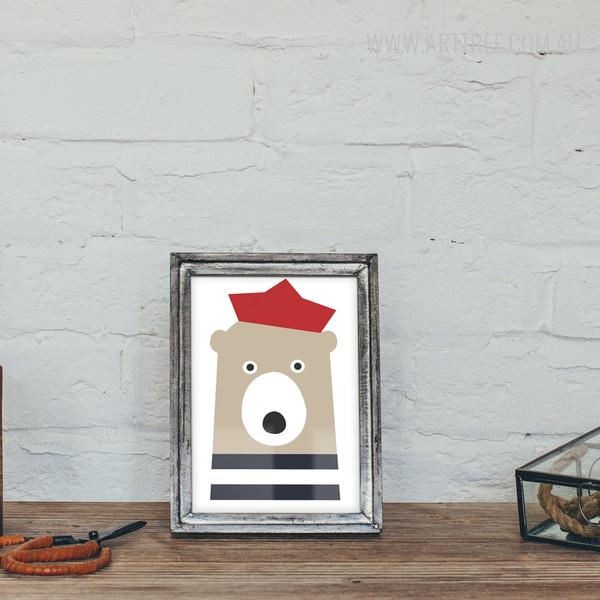 Cute Bear Sailor Print for Nursery Decor