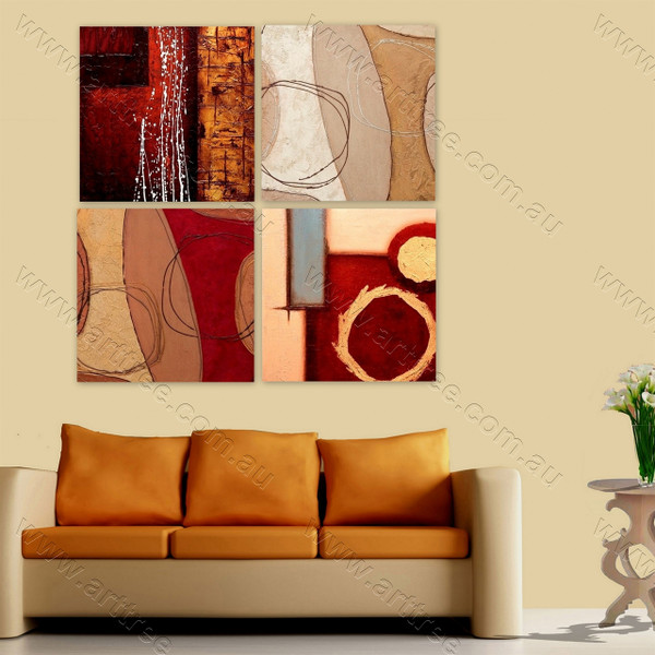 Abstract Split Panel Painting