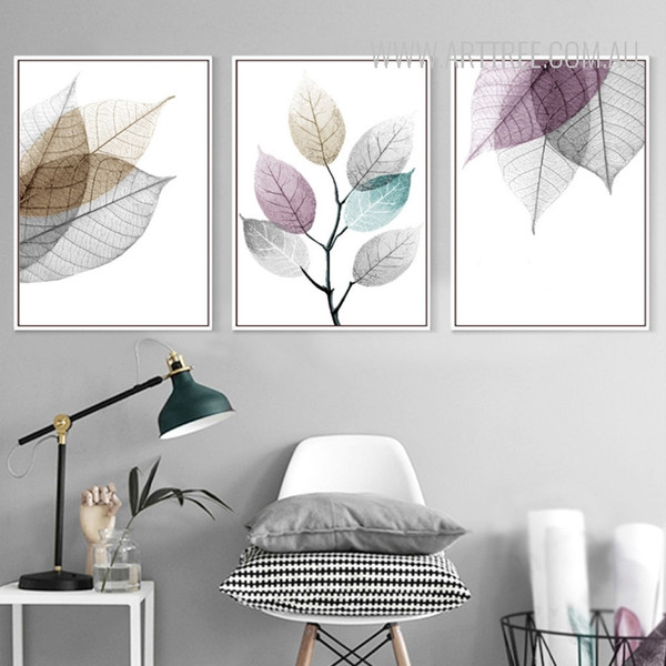 Abstract Watercolor Leaves Art