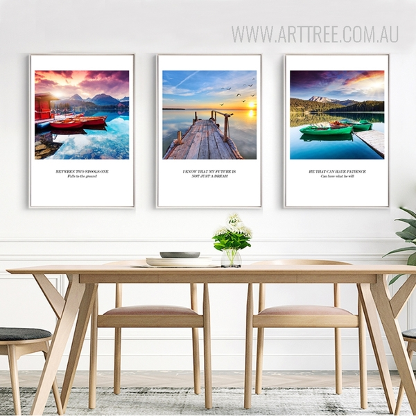 Beautiful Landscape Quotes Canvas Wall Art Set