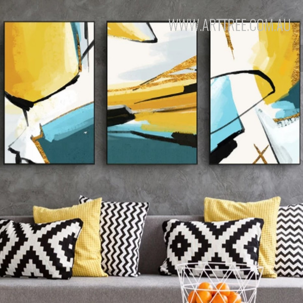 Abstract Yellow Base Wall Art