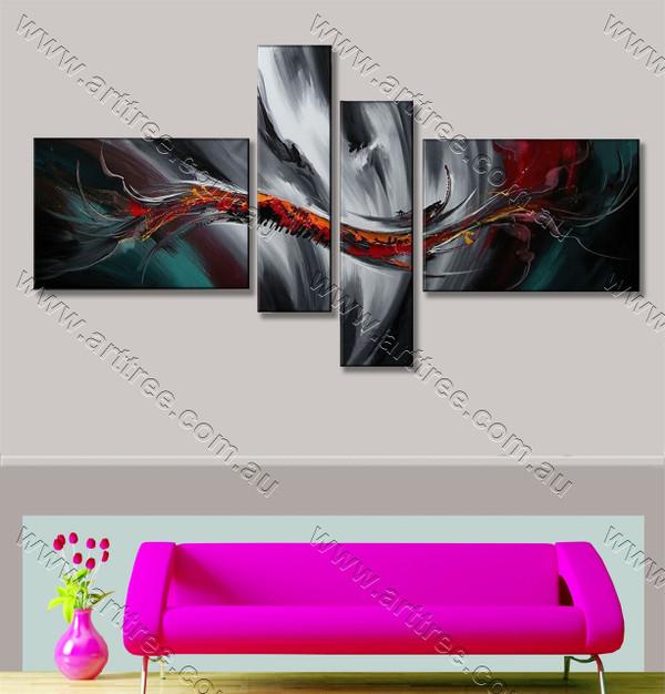 simple modern artwork Colored Wave