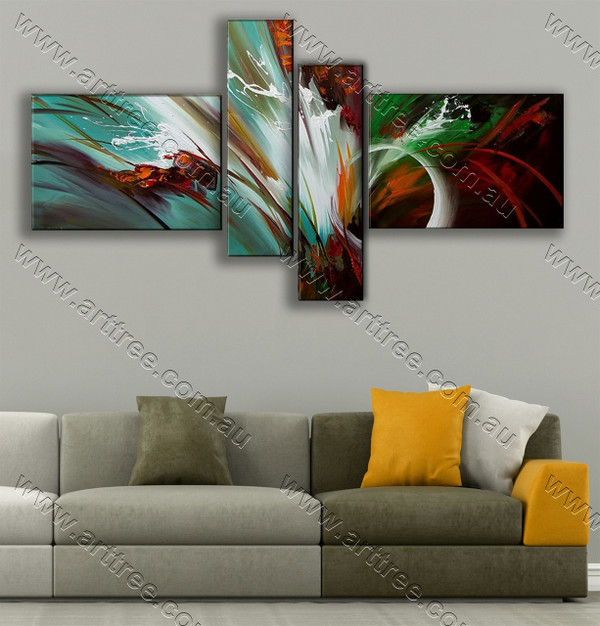 modern abstract oil painting Colorful Shades