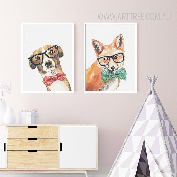 Cool Dog Fox Animals Poster Prints