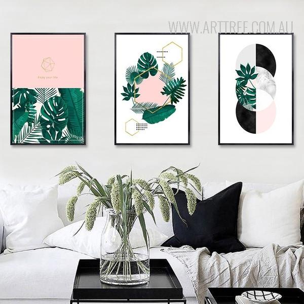 Nordic Scandinavian Plant Leaf Geometric Art