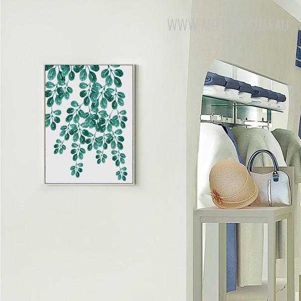 Refreshing Green Leaves Canvas Print