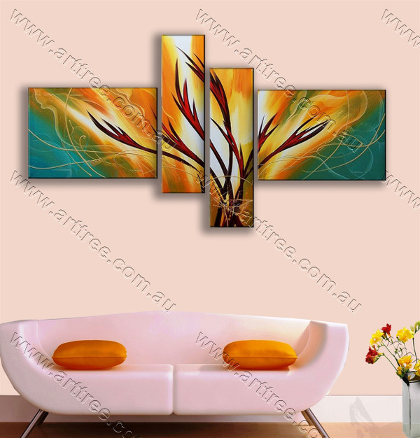 modern art oil painting Red-Brown Roots