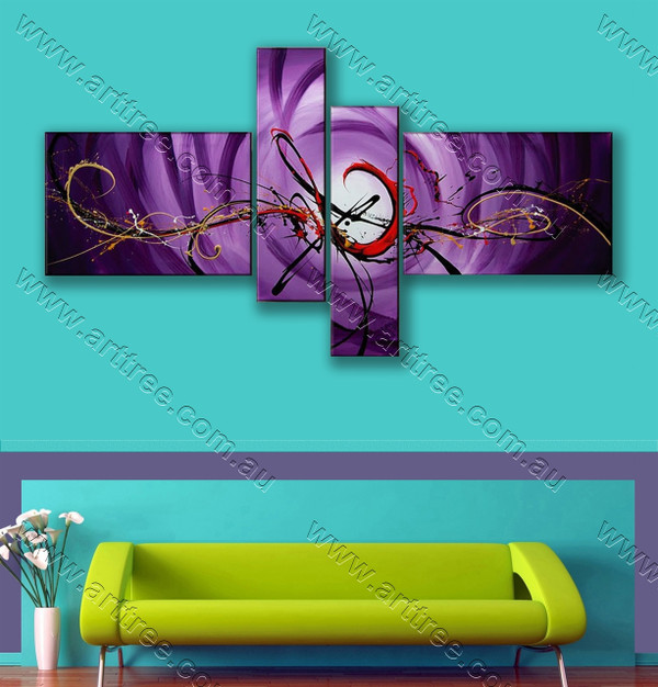 home decor painting Purple Base