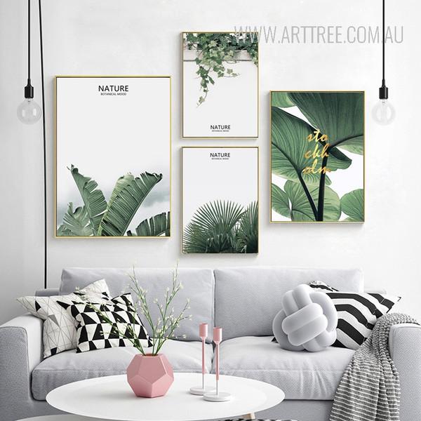 Nature Botanical Mood Tropical Green Leaf Art