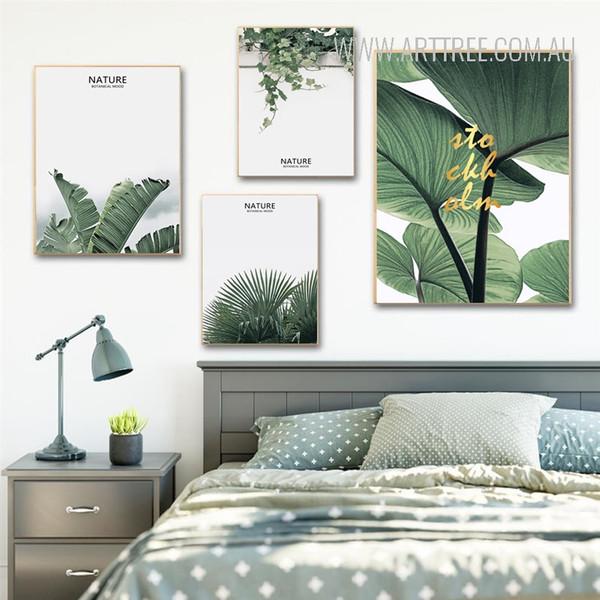Nature Botanical Mood Tropical Green Leaf Art Print