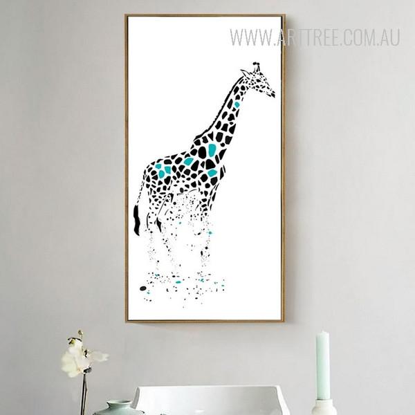 Nordic Disappearing Giraffe Animal Art