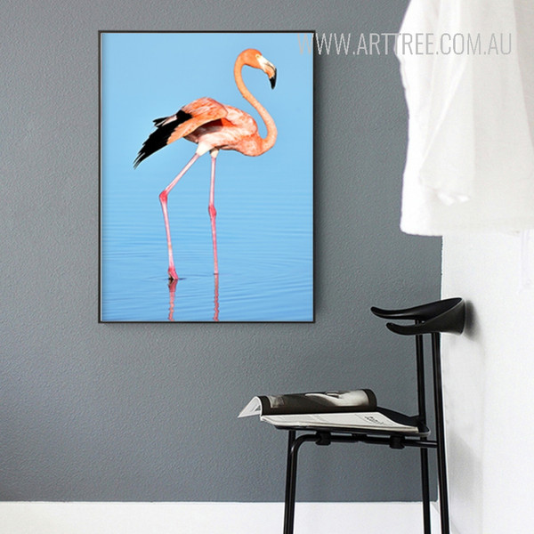 Flamingo Bird Spindrift Design Watercolor Art
