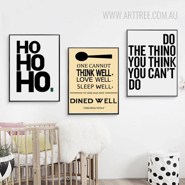 Modern ho Virginia Wolf Words Canvas Prints