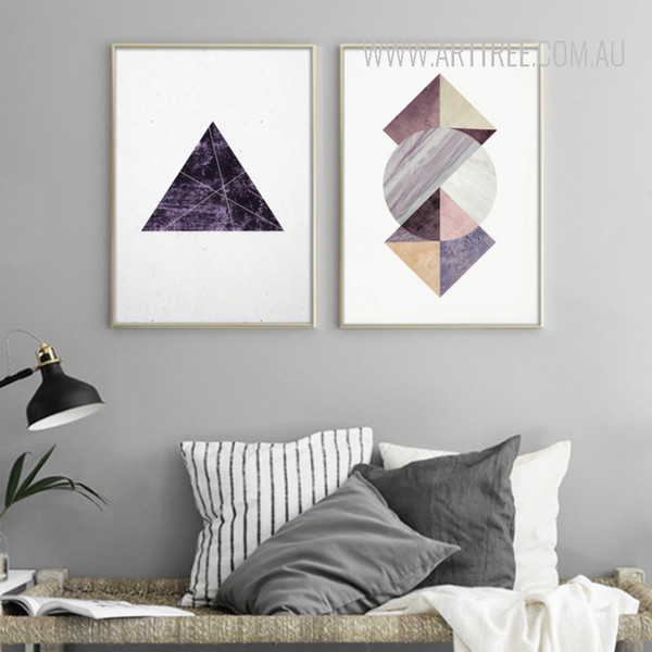 Abstract Geometric Pattern Triangle Circle Design Housewarming Art
