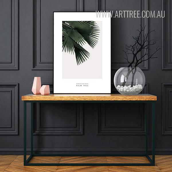 Green Palm Tree Leaf Art