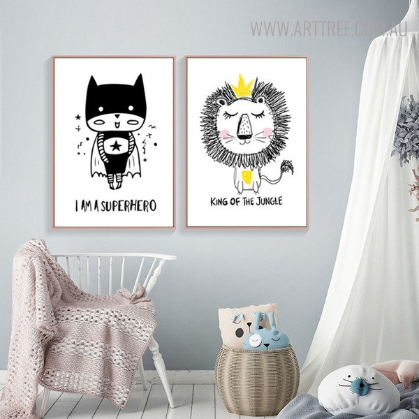 I m a Superhero Quotes Animated Wall Art