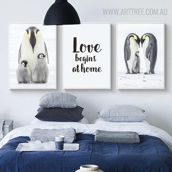 Emperor Penguins Bird Quotes Wall Art for Bedroom Decor