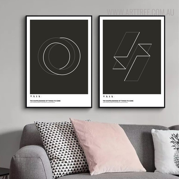 Shapes Quotes Abstract Geometric Wall Design