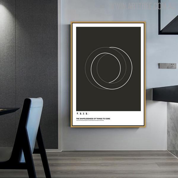 Abstract Circles Geometric Quotes Wall Art