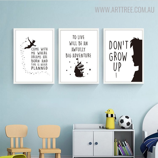 Big Adventure Animated Inspirational Quotes for Kids Wall Art Decor