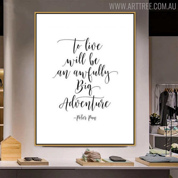 Live Quotes Painting Print for Living Room Wall Art