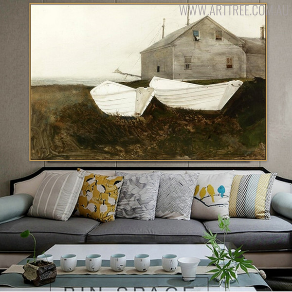 Bone White Famous Artists Still Life Landscape Picture Print for Living Room Decor