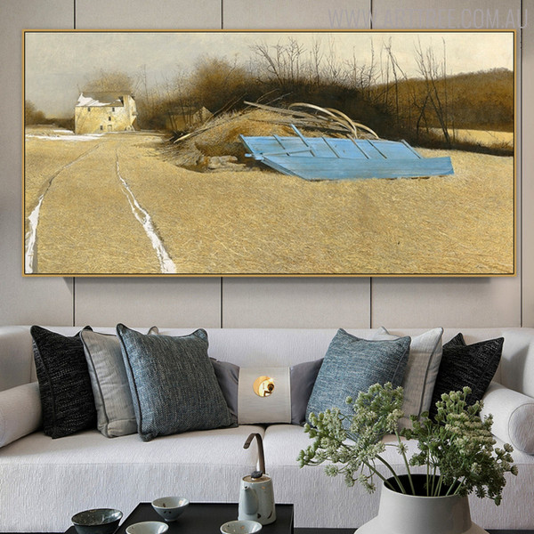 Flood Plain Famous Artists Still Life Landscape Scandinavian Image Print for Living Room Decoration