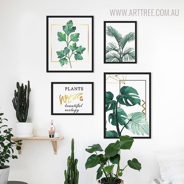 Plants Nature Quotes Modern Botanical Painting Print for Living Room Wall Ornament