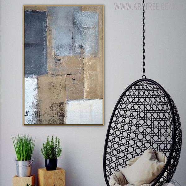 Abstract Brown Vintage Painting Canvas Print for Living Room Wall Getup
