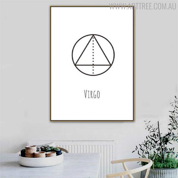 Virgo Abstract Geometric Minimalist Painting Print for Dining Room Wall Outfit
