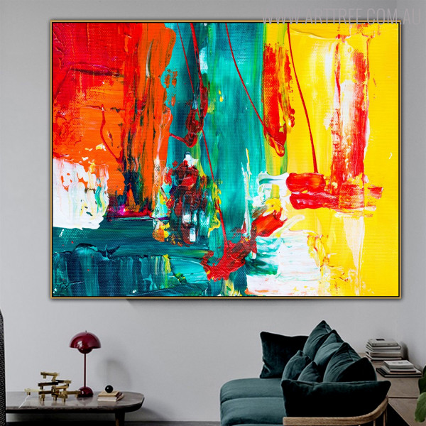 Deep Dapple Abstract Texture Canvas Artwork for Room Wall Ornament