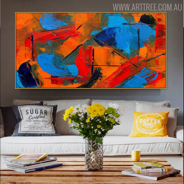 Bushy Abstract Texture Canvas Vignette for Wall Disposition