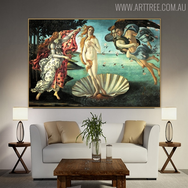 The Birth of Venus Oil Painting Reproductions for Interior Wall Adornment