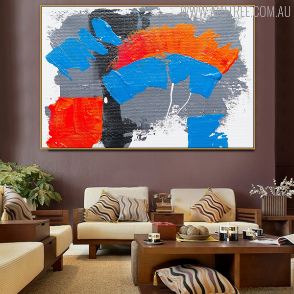 Bold Track Abstract Framed Texture Handmade Canvas Portrayal for Living Room Wall Decoration
