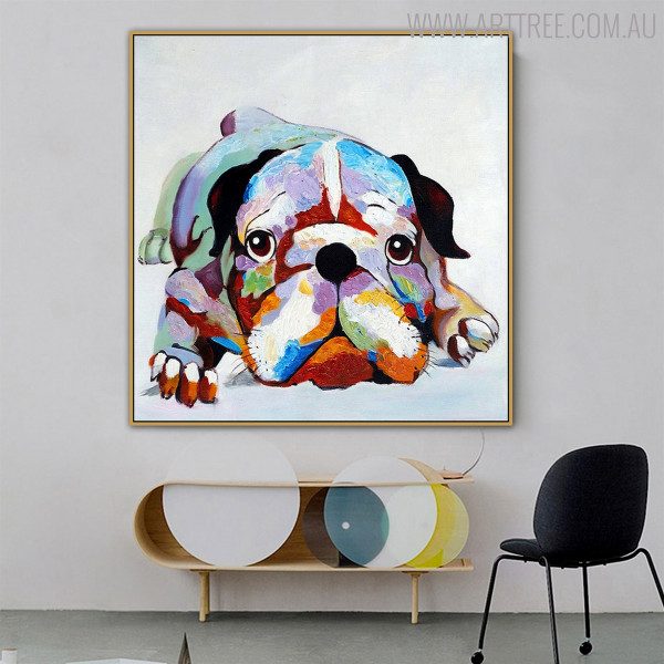 Boxer Dog Animal Modern Canvas Artwork for Wall Hanging Decor
