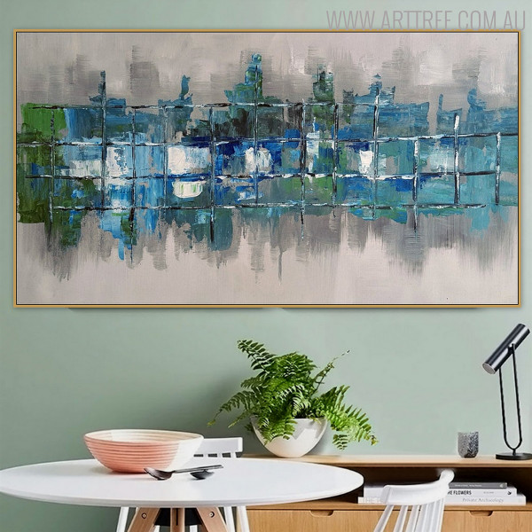 Boxes Modern Abstract Heavy Texture Knife Painting for Room Wall Outfit