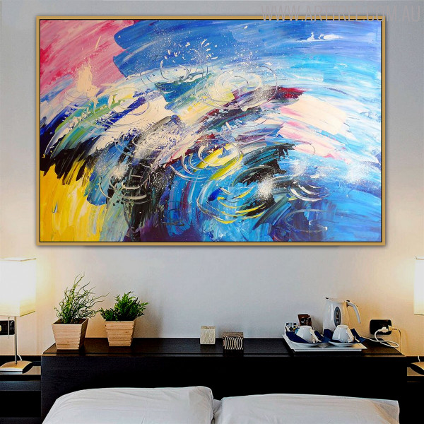 Drops Abstract Modern Texture Handmade Canvas Artwork for Room Wall Moulding