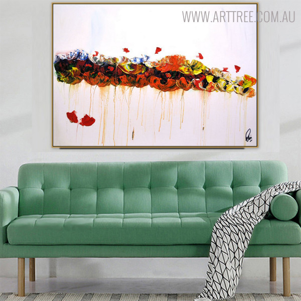 Bold Texture Abstract Handmade Oil Portmanteau on Canvas for Living Room Wall Art