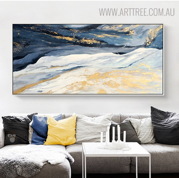 Hills Abstract Landscape Oil Painting on Canvas for Wall Decoration
