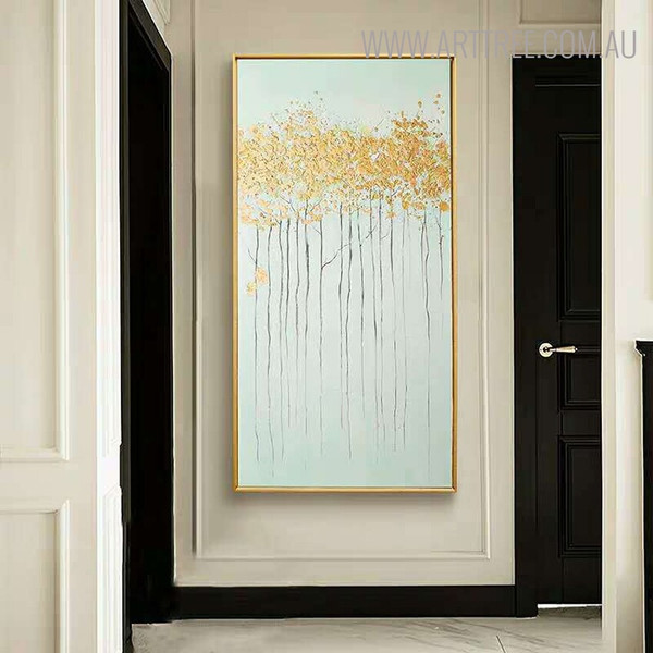 Shrubs Abstract Texture Framed Handmade Oil Paintings on Canvas for Room Wall Finery