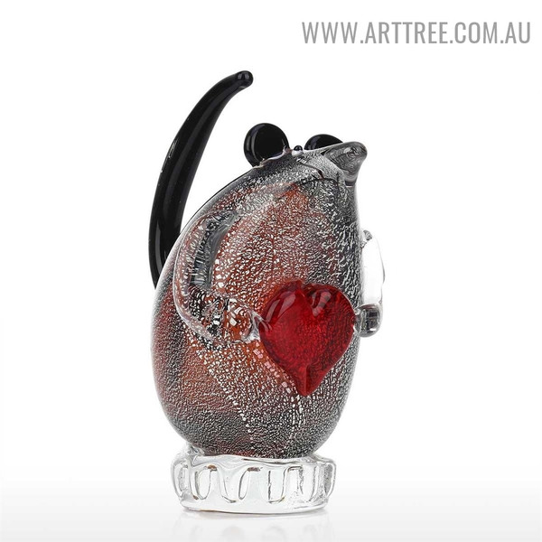 Glass Mouse Animal Statue