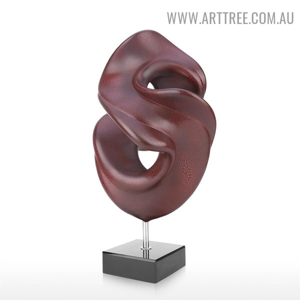 Meandering Abstract Resin Indoor Statue Decoration