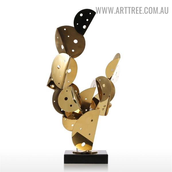 Cactus Metal Figurine Sculpture