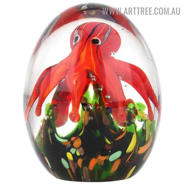 Octopus Water Animal Glass Handmade Sculpture for Sale