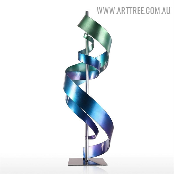 Meandering Idol Abstract Iron Material Decorative Sculpture