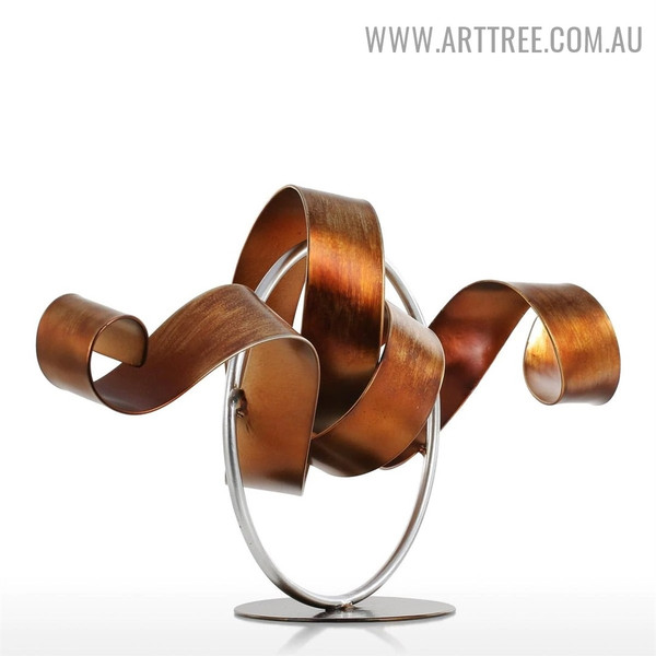Wriggle Abstract Metal Modern Indoor Statue Decoration