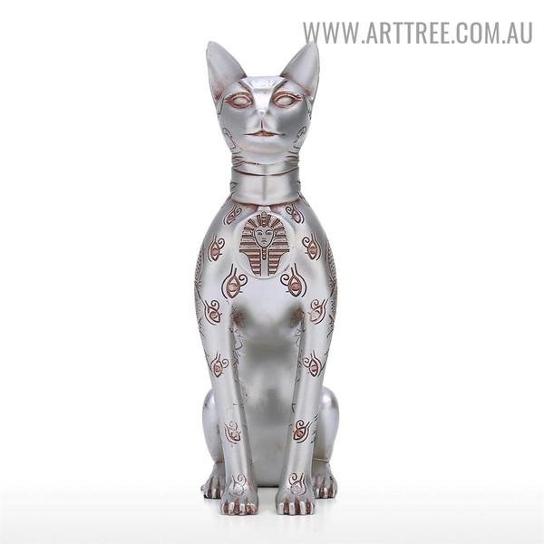 Egypt Sphinx Cat Animal Resin Material Home Decor Sculpture