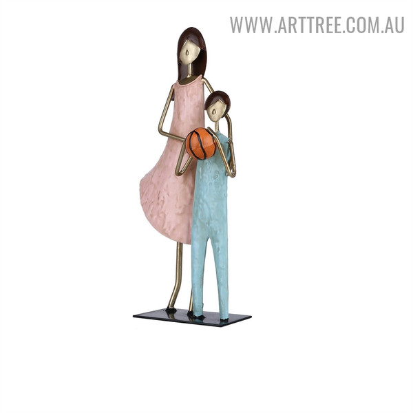 Brother and Sister Figurine Iron Material Modern Sculpture for Sale in Australia