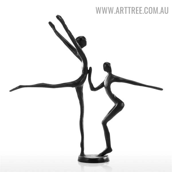 Dancer Couple Statue Iron Sculpture